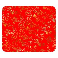 Golden Swrils Pattern Background Double Sided Flano Blanket (small)