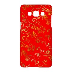Golden Swrils Pattern Background Samsung Galaxy A5 Hardshell Case