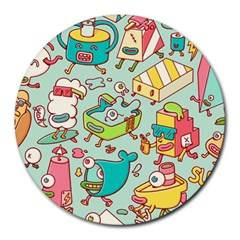 Summer Up Pattern Round Mousepads