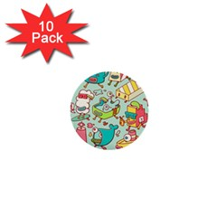 Summer Up Pattern 1  Mini Buttons (10 Pack)