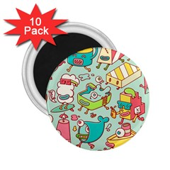 Summer Up Pattern 2 25  Magnets (10 Pack)