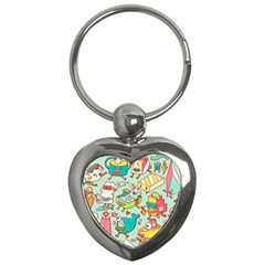 Summer Up Pattern Key Chains (heart)