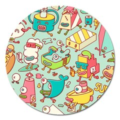 Summer Up Pattern Magnet 5  (round)