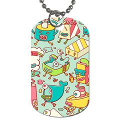 Summer Up Pattern Dog Tag (two Sides)