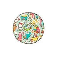 Summer Up Pattern Hat Clip Ball Marker (10 Pack)