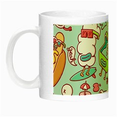 Summer Up Pattern Night Luminous Mugs