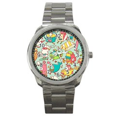 Summer Up Pattern Sport Metal Watch