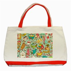Summer Up Pattern Classic Tote Bag (red)