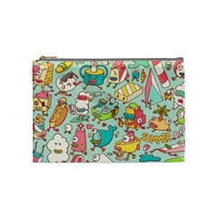 Summer Up Pattern Cosmetic Bag (medium)