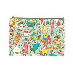 Summer Up Pattern Cosmetic Bag (Large)