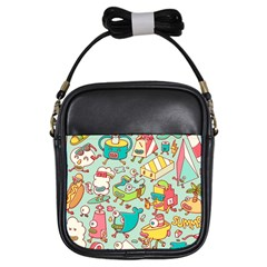 Summer Up Pattern Girls Sling Bags