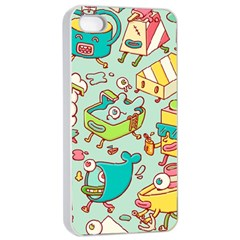 Summer Up Pattern Apple Iphone 4/4s Seamless Case (white)