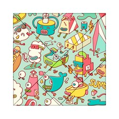 Summer Up Pattern Acrylic Tangram Puzzle (6  X 6 )