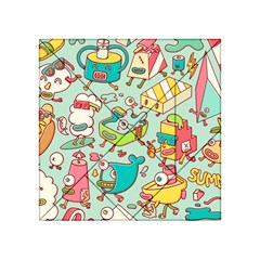 Summer Up Pattern Acrylic Tangram Puzzle (4  X 4 )