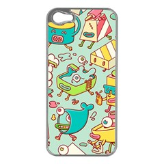 Summer Up Pattern Apple Iphone 5 Case (silver)