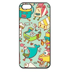 Summer Up Pattern Apple Iphone 5 Seamless Case (black)