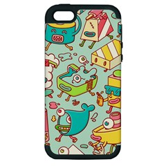 Summer Up Pattern Apple Iphone 5 Hardshell Case (pc+silicone)