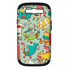 Summer Up Pattern Samsung Galaxy S Iii Hardshell Case (pc+silicone)