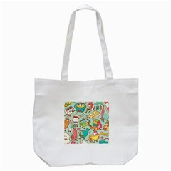 Summer Up Pattern Tote Bag (white)