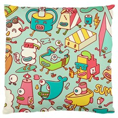 Summer Up Pattern Large Flano Cushion Case (two Sides)