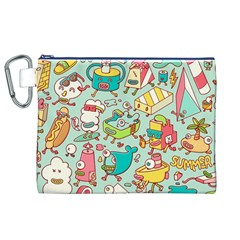 Summer Up Pattern Canvas Cosmetic Bag (xl)