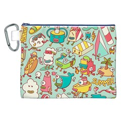 Summer Up Pattern Canvas Cosmetic Bag (XXL)