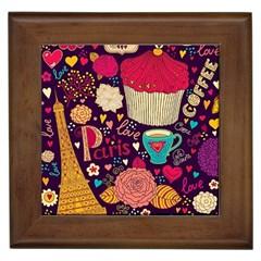 Cute Colorful Doodles Colorful Cute Doodle Paris Framed Tiles