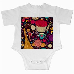 Cute Colorful Doodles Colorful Cute Doodle Paris Infant Creepers