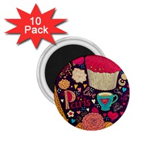 Cute Colorful Doodles Colorful Cute Doodle Paris 1.75  Magnets (10 pack)