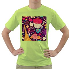 Cute Colorful Doodles Colorful Cute Doodle Paris Green T-Shirt