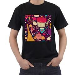 Cute Colorful Doodles Colorful Cute Doodle Paris Men s T Shirt (black) (two Sided)
