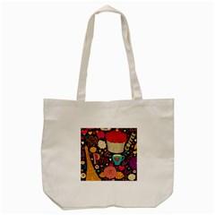 Cute Colorful Doodles Colorful Cute Doodle Paris Tote Bag (cream)