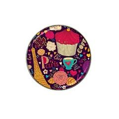 Cute Colorful Doodles Colorful Cute Doodle Paris Hat Clip Ball Marker (10 pack)