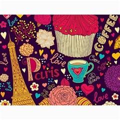 Cute Colorful Doodles Colorful Cute Doodle Paris Canvas 18  X 24