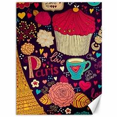 Cute Colorful Doodles Colorful Cute Doodle Paris Canvas 36  X 48