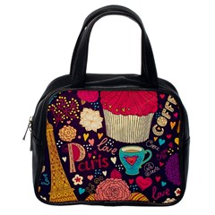 Cute Colorful Doodles Colorful Cute Doodle Paris Classic Handbags (One Side)