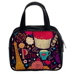 Cute Colorful Doodles Colorful Cute Doodle Paris Classic Handbags (2 Sides)