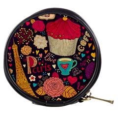 Cute Colorful Doodles Colorful Cute Doodle Paris Mini Makeup Bags