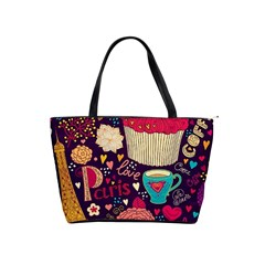 Cute Colorful Doodles Colorful Cute Doodle Paris Shoulder Handbags