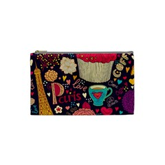 Cute Colorful Doodles Colorful Cute Doodle Paris Cosmetic Bag (Small)