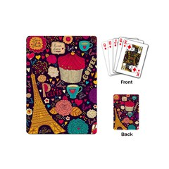 Cute Colorful Doodles Colorful Cute Doodle Paris Playing Cards (Mini)