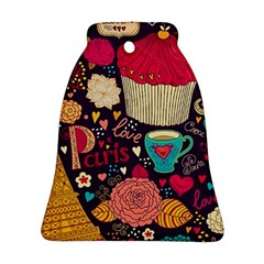 Cute Colorful Doodles Colorful Cute Doodle Paris Bell Ornament (two Sides)