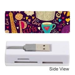 Cute Colorful Doodles Colorful Cute Doodle Paris Memory Card Reader (Stick)