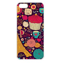 Cute Colorful Doodles Colorful Cute Doodle Paris Apple Iphone 5 Seamless Case (white)