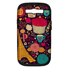 Cute Colorful Doodles Colorful Cute Doodle Paris Samsung Galaxy S III Hardshell Case (PC+Silicone)