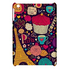 Cute Colorful Doodles Colorful Cute Doodle Paris Apple iPad Mini Hardshell Case
