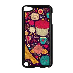 Cute Colorful Doodles Colorful Cute Doodle Paris Apple Ipod Touch 5 Case (black)
