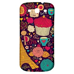 Cute Colorful Doodles Colorful Cute Doodle Paris Samsung Galaxy S3 S Iii Classic Hardshell Back Case