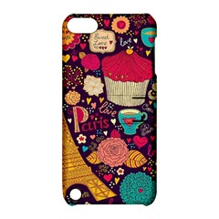 Cute Colorful Doodles Colorful Cute Doodle Paris Apple Ipod Touch 5 Hardshell Case With Stand