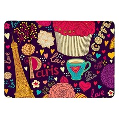 Cute Colorful Doodles Colorful Cute Doodle Paris Samsung Galaxy Tab 8.9  P7300 Flip Case
